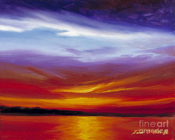 Skyscape Poster featuring the painting Sarasota Bay I by James Christopher Hill