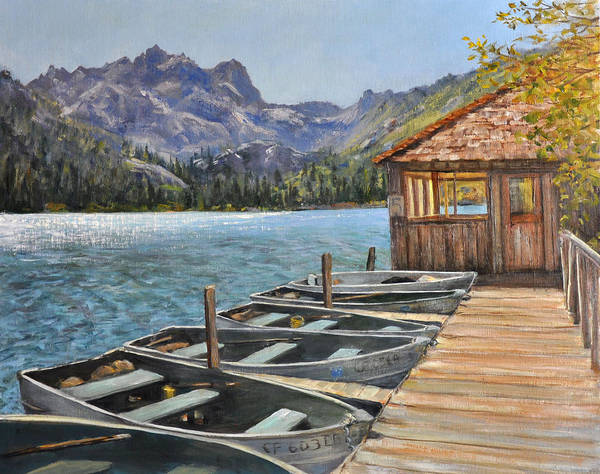 Landscape Poster featuring the painting Sardine Lake by Loreen Thomas