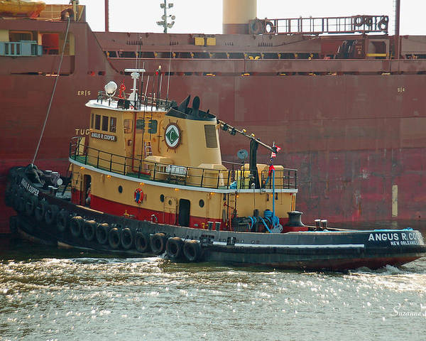 Tug Poster featuring the photograph Savannah River Tug by Suzanne Gaff