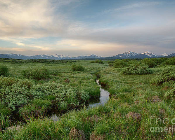 Boulder Mountains Poster featuring the photograph Sawtooth Valley II by Idaho Scenic Images Linda Lantzy