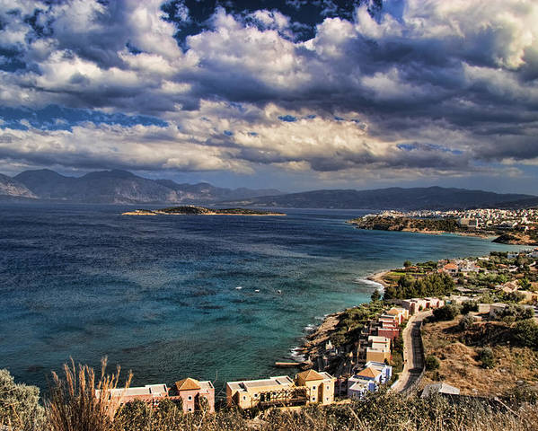 Crete Poster featuring the photograph Scenic View Of Eastern Crete by David Smith
