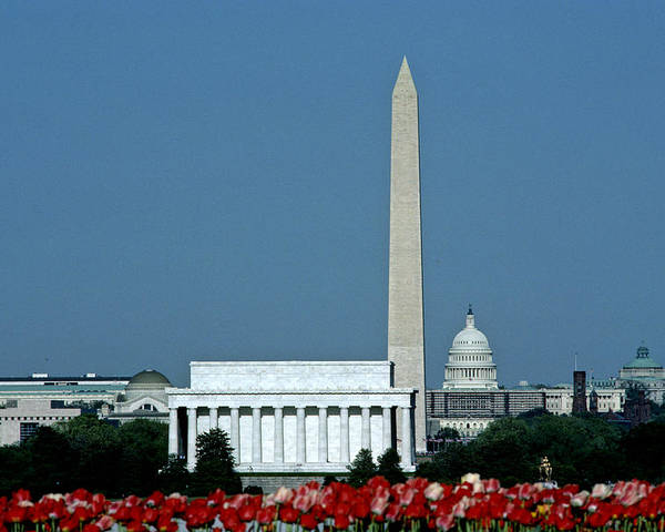 Washington Poster featuring the photograph Scenic View Of Washington D.c by Kenneth Garrett