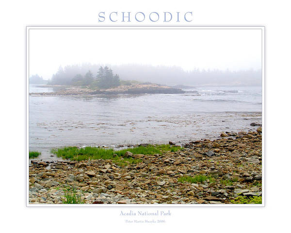 Landscape Poster featuring the photograph Schoodic by Peter Muzyka