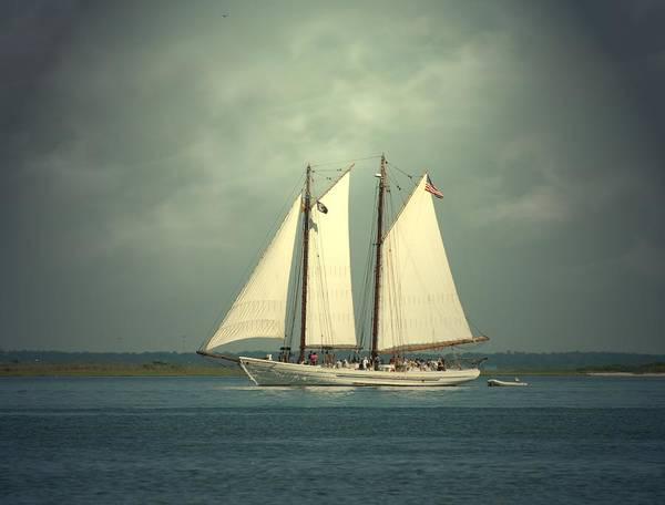 Sailing Ship Poster featuring the photograph Schooner A. J. Meerwald 4 by Joyce StJames