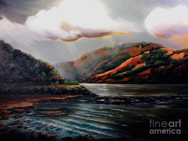 Landscape Poster featuring the painting Scotland by Patricia Reed