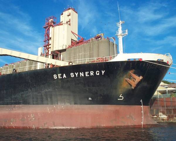Ship Poster featuring the photograph Sea Synergy Hull by Alan Espasandin