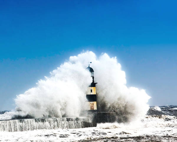 Landscape Poster featuring the photograph Seaham Storm by Thom Jones