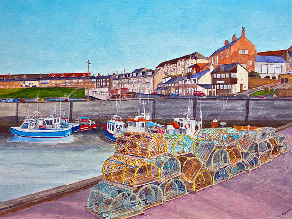 Harbour Poster featuring the painting Seahouses IIi by Francis Robson
