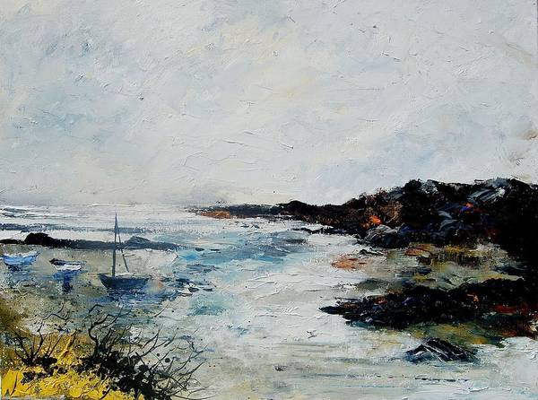 Sea Poster featuring the painting Seascape 68 by Pol Ledent