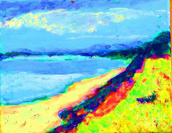 Landscape Poster featuring the painting Seaside Green by Lynn Rogers