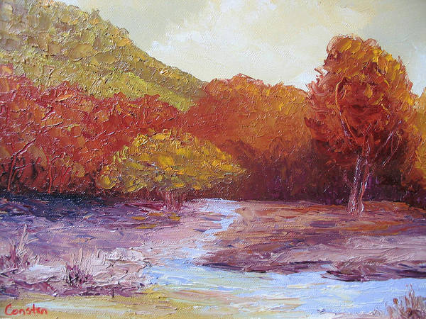 Landscape Poster featuring the painting Season Change by Belinda Consten
