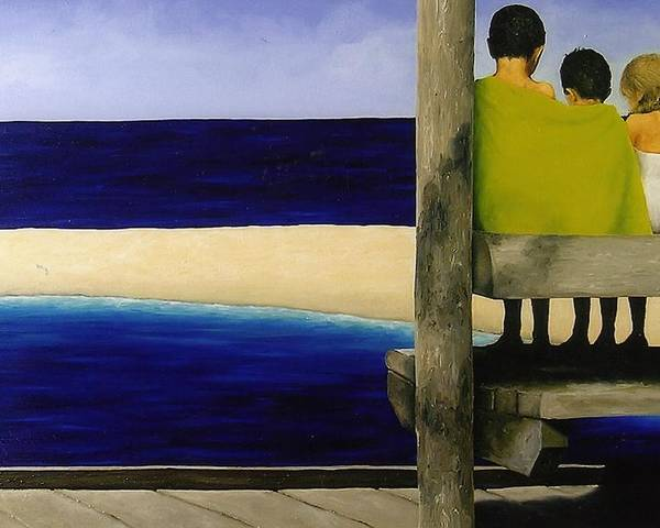 Seascape Poster featuring the painting Secrets by Trisha Lambi