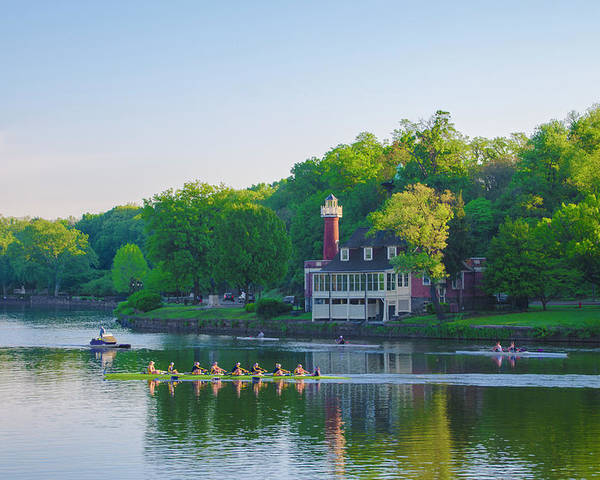 Sedgeley Poster featuring the photograph Sedgeley Club - Boathouse Row by Bill Cannon
