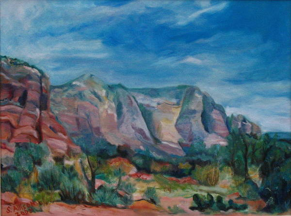 Landscape Poster featuring the painting Sedona II by Stephanie Allison