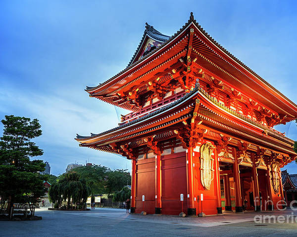 Tokyo Poster featuring the photograph Sensoji Temple by Jane Rix