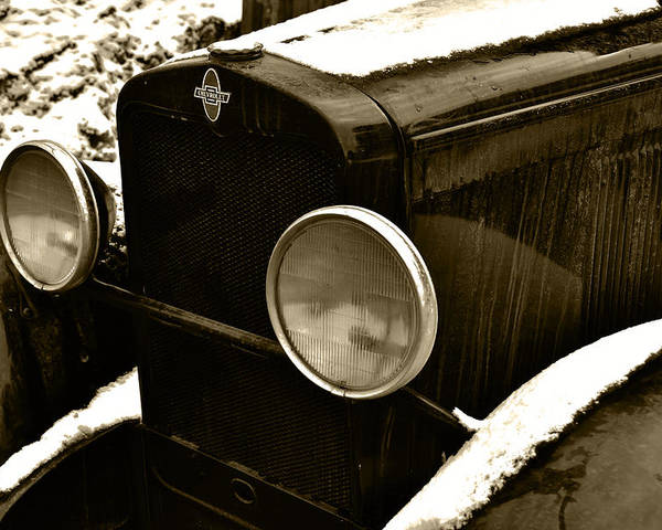 Old Truck Poster featuring the photograph Sepia Chevy by Ed Ostrander