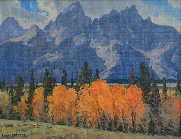 Landscape Poster featuring the painting September Glow by Lanny Grant