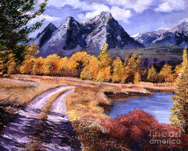 Mountains Poster featuring the painting September High Country by David Lloyd Glover