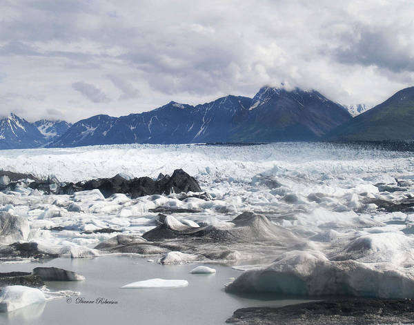 Alaska Poster featuring the photograph September's Knik Glacier by Dianne Roberson