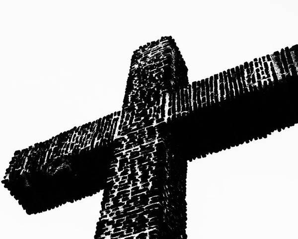 Cross Poster featuring the photograph Serra Cross by Joseph S Giacalone