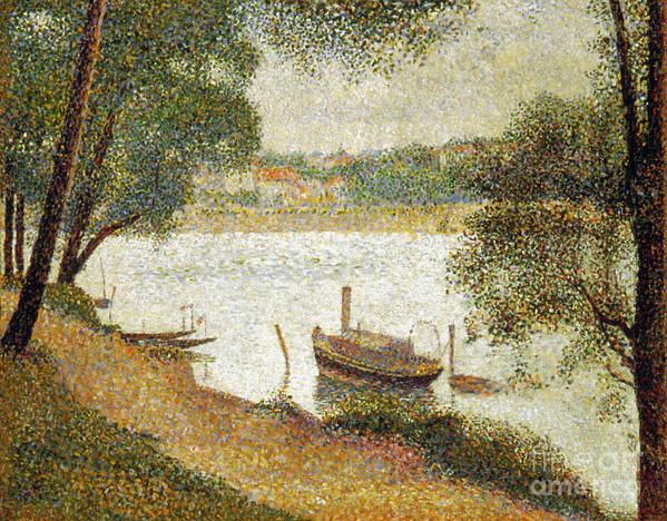 19th Century Poster featuring the photograph Seurat: Gray Weather by Granger