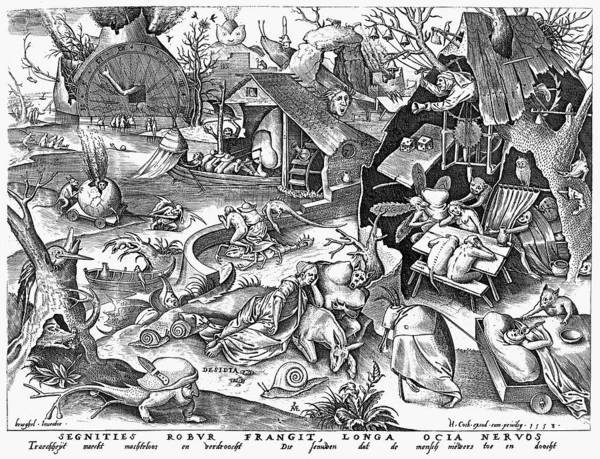 1557 Poster featuring the photograph Seven Deadly Sins: Sloth by Granger