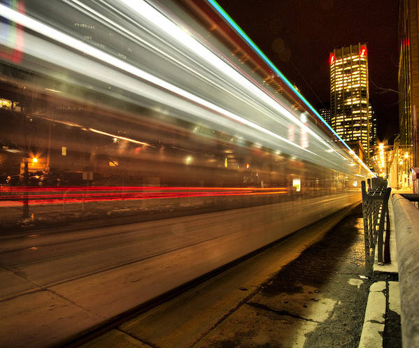 Night Poster featuring the photograph Seventh Avenue Phfreeze Out by Russell Styles