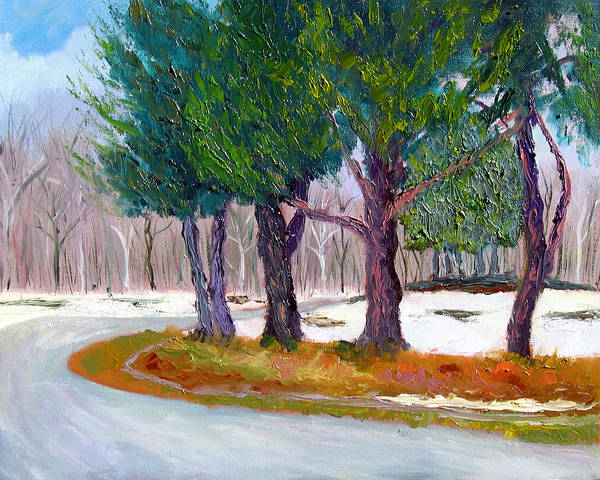 Landscape Poster featuring the painting Sewp Spring Thaw by Stan Hamilton