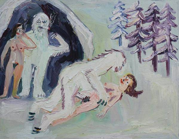 Sex Poster featuring the painting Sex With A Yeti by John Kilduff