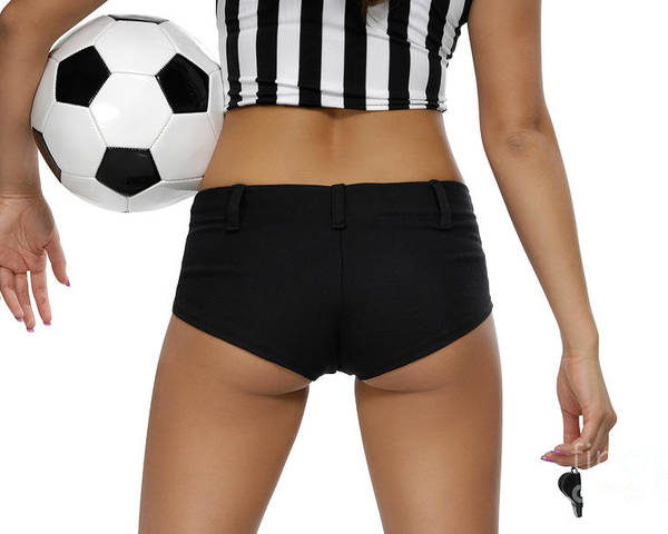 Soccer Poster featuring the photograph Sexy Referee by Oleksiy Maksymenko