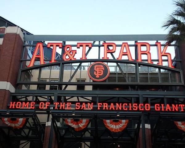 San Francisco Poster featuring the photograph Sf Giants Stadium by Kathleen Fitzpatrick