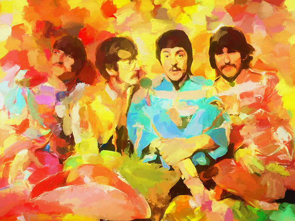 Sgt. Peppers Lonely Hearts Poster featuring the painting Sgt. Peppers Lonely Hearts by Dan Sproul