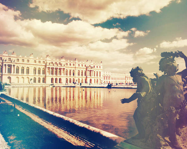 Angle Poster featuring the photograph Shabby Chic Versailles Palace Gardens by Sandra Rugina