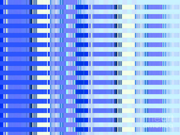 Blue Poster featuring the photograph Shades Of Blue Highrise by Ann Johndro-Collins