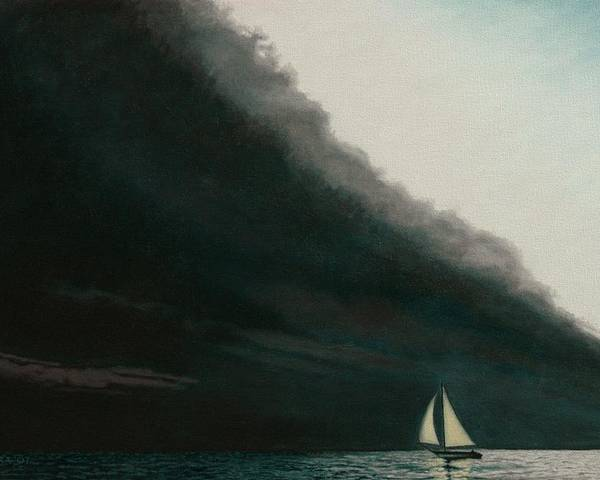 Sailing Poster featuring the painting Shadow Work by Allan OMarra