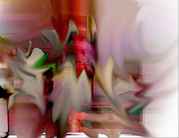 Abstract Poster featuring the digital art Shake by Dave Kwinter