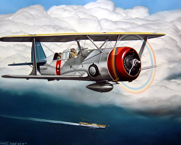 Aviation Poster featuring the painting Shakedown Cruise by Marc Stewart