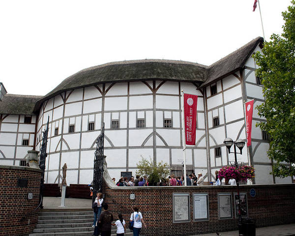 Shakespeare Poster featuring the photograph Shakespeare's Globe Theater by Charles Ridgway