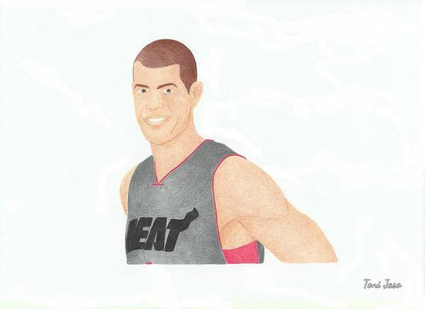 Basketball Poster featuring the drawing Shane Battier by Toni Jaso