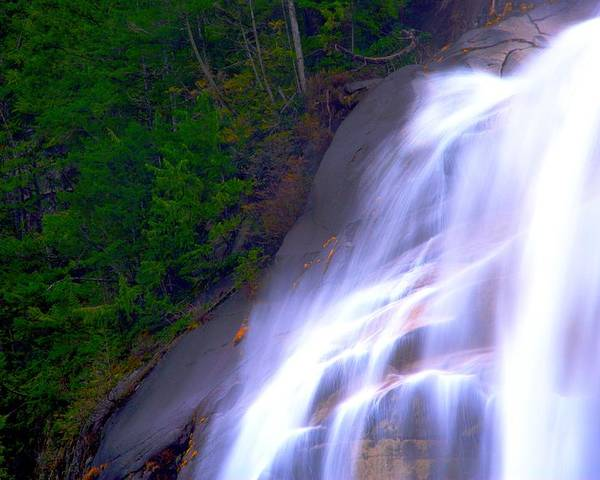 Waterfall Poster featuring the photograph Shannon Falls by Paul Kloschinsky