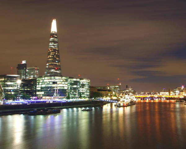 Shard Poster featuring the photograph Shard From Tower Bridge London by Andrew Ford