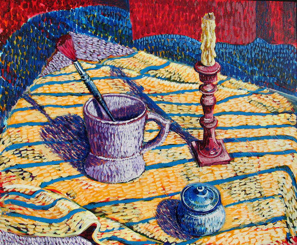 Still Life Poster featuring the painting Shaving Mug by Rollin Kocsis