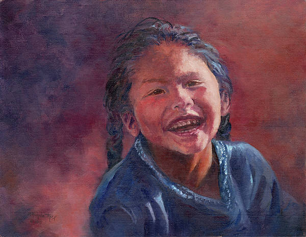 Portrait Poster featuring the painting Sheer Joy by Michele Thorp