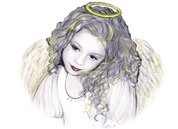 Angel Poster featuring the drawing Shelangel by L Lauter