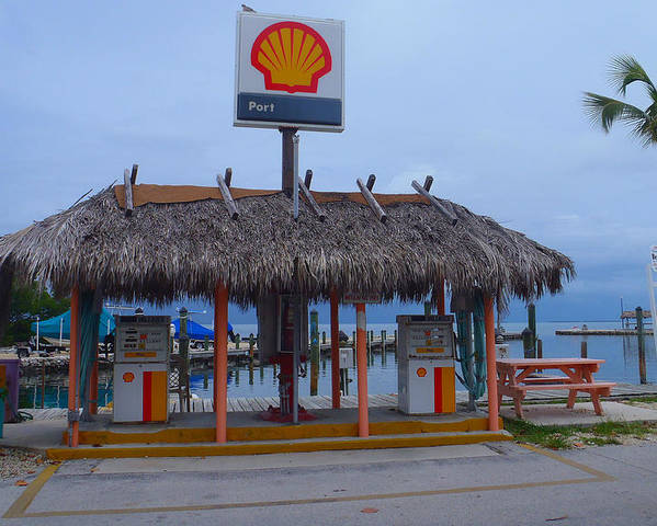 Fiesta Key Poster featuring the photograph Shell Tiki Hut Station by Tammy Chesney
