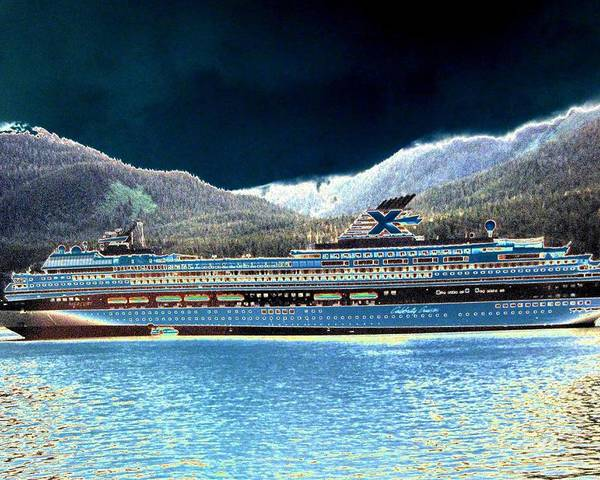 Juneau Poster featuring the digital art Shipshape 10 by Will Borden