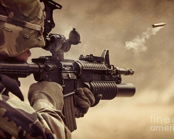 Troop Poster featuring the photograph Shooter by Sebastien Coell