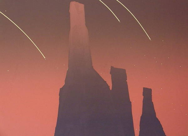 Shooting Stars Poster featuring the painting Shooting Star II by Gary Kaemmer