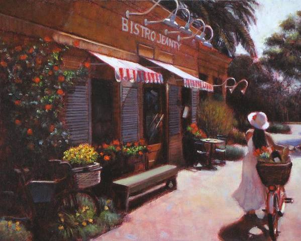 Wine Poster featuring the painting Shopping Wine In Napa Valley by Takayuki Harada