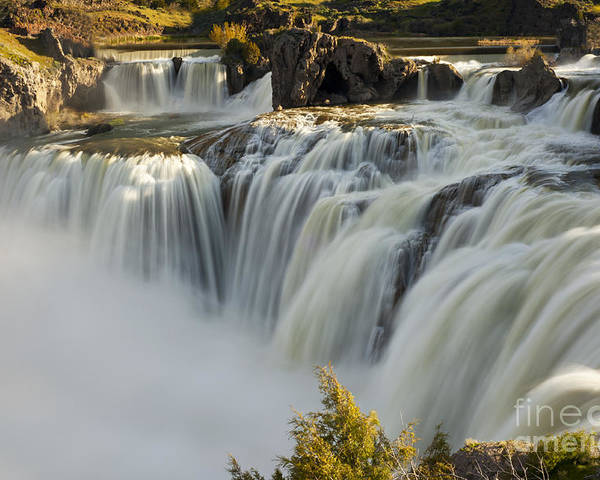 Shoshone Falls Poster featuring the photograph Shoshone Falls in Spring by Dennis Hammer